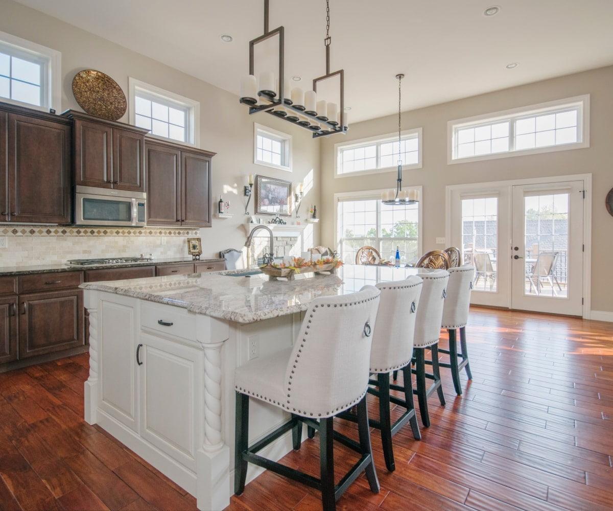 open space kitchen renovation